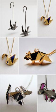 Origami jewelry by French Designers Origami Jewellery #origami #jewelry #design #France via blog.la76.com