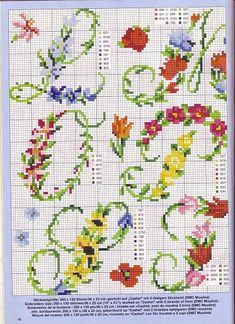Cross stitch - alphabet pattern...