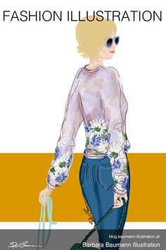 Drawing fashionable girls like this colorfully dressed woman walking with her little dog and shopping like on a catwalk #fashionillustration The digital illustration of done on the graphic tablet with a rough draft on a separate layer to define the female body proportions step by step after an ink pen or pencil sketch on the sketchbook to find creative methods and techniques for sketching ideas. learn more about figure drawing and dynamic gestures in my tutorials #drawingtutorial Sunglasses Paul Green, Illustration Mode, Digital Illustration, Fashion Illustrations, Fashion Sketches, Illustrator, Rough Draft, Body Proportions, Shoe Manufacturers