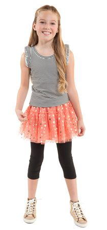 Shining in Tulle Outfit [ Pin to Win 5 New Outfits to FabKids! ] Re-pin your favorite outfits & go to our entry form for a chance to win:  https://www.facebook.com/LoveFabKids/app_588198187877399 #fabkids