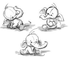 elephants drawings tattoo art elephants cute cartoon drawings babyPencil Drawings Of Baby Elephants