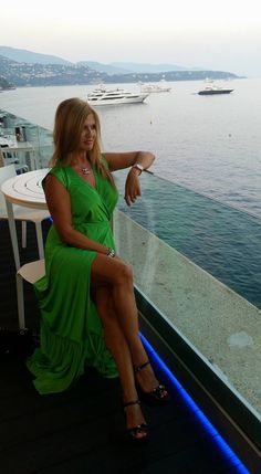 Maria Sidhropoulou wearing a Maxi dress by Elena Chalati