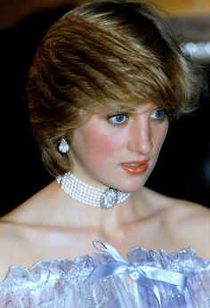 "November 4, 1981: Princess Diana at ""Splendours of the Gonzaga"" exhibition at the Victoria & Albert Museum, South Kensington, London."