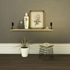 • Vintage Leaning Paintings • Turnbuckle Shelf • Stool * Painting mesh by Leehee - Converted to Sims 4 by Mio Sims Download