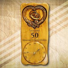 50. házassági évfordulóra falióra Bottle Opener, Clock, Wall, Decor, Watch, Decoration, Clocks, Walls, Decorating