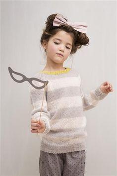 1402: Modell 3 Stripete genser #strikk #knit #mohair