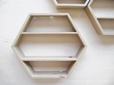 bee hive shelves | installation | resource corner | but natural wood [can we make these?]