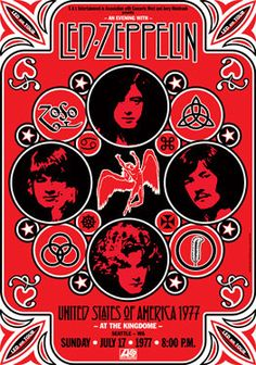 - Led Zeppelin concert poster artwork. #music #gigposters #posterart #ledzeppelin #musicart http://www.pinterest.com/TheHitman14/music-poster-art-%2B/