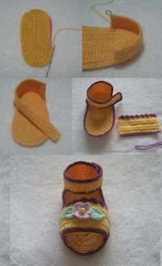 Croche pro Bebe: Pap sandalinha da net