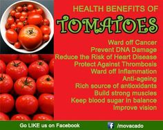 Health benefits of tomatos