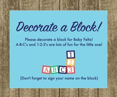 decorate a block baby shower - Google Search