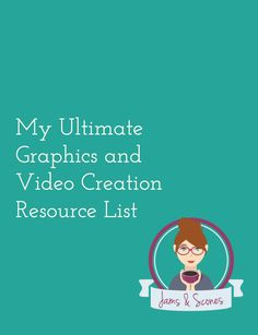 Looking for tools and resources to help you create graphic and videos for social media and blogging. I've just added the My Ultimate Graphics and Video Creation Resource List to the Resource Library.  Get your free access here www.22s.com/022qco