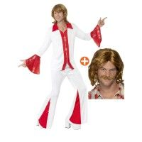 Mens Super Trooper Costume & Wig - Stag Party or Party - Abba Stag Fancy Dress, Costume Wigs, Costumes, Super Troopers, 70s Party, Dress Ideas, Men, Fictional Characters, Dresses
