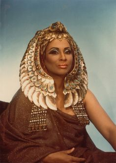Barbara Conrad as Amneris in Aida.  Photo credit: Marc Raboy. Photo courtesy of Dolph Briscoe Center for American History, University of Texas