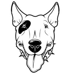Buy Bull Terrier by Dazdraperma on GraphicRiver. Illustration of cartoon Bull Terrier. Illustration Cartoon, Free Vector Illustration, Vector Art, Illustrations, Perros Bull Terrier, Bull Terrier Dog, Dog Tattoos, Animal Tattoos, Tatuaje Bull Terrier