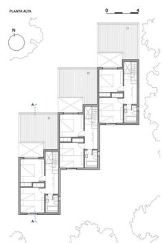 CLF Houses / Estudio BaBO,Plan
