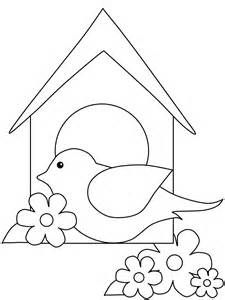 Birdhouse and Bird Coloring Pages - Bing images