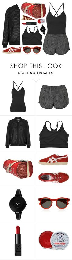 """Beyoncé ivy park"" by mywayoflife ❤ liked on Polyvore featuring Topshop, Rubber Doll, Chanel, Onitsuka Tiger, Movado, Illesteva, NARS Cosmetics and Rosebud Perfume Co."