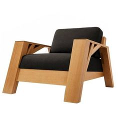 Club Carpenter Sofa One Seat Oak Solid Wood by Olivier Dollé 1