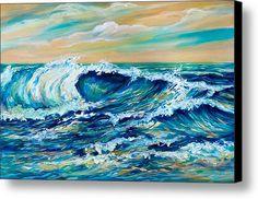 Rough Seas Canvas Print / Canvas Art By Linda Olsen