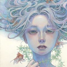 The beautiful work of Art And Illustration, Fantasy Kunst, Fantasy Art, Anime Kunst, Anime Art, Portrait Art, Portraits, Digital Art Girl, Wow Art