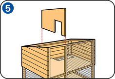 Construire un clapier à lapin - Paroi intérieure