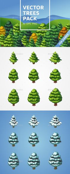 Trees Pack Download here: https://graphicriver.net/item/trees-pack/17189830?ref=KlitVogli