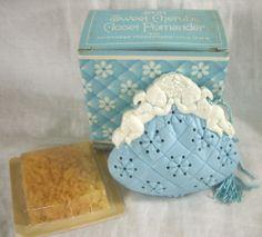 Vintage Avon Sweet Cherubs Closet Pomander with Fragranced Wax Chips