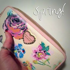 NEW! Spring Fling Floral Zip Around Wallet NWT Betsey Johnson Bags Wallets