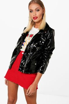 Click here to find out about the Emily Patent Biker Jacket from Boohoo, part of our latest Coats & Jackets collection ready to shop online today!