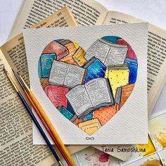 #all_I_love Books  #illustrationgram #watercolor #books #reading #artistsoninstagram #illustrationoftheday #shapeofmyheart