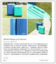Popbee (Hong Kong)  #suitcase  #travel #blue #mint #Delsey