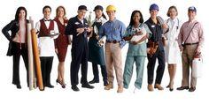 distintios trabajadores de empresas