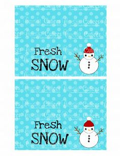 Cupcake Cutiees: Fresh Snow Ziploc Bag Toppers- Party Store