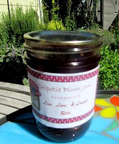 Chipotle Plum Jam from Food.com:   Oh YES! ;) That is smokey, spicy, sweet, tart jam. Orange and chipotle go so nice togeter. Glaze a pork roast, BBQ chicken pieces, spread it over cream cheese for an appy or on a pork or chicken sandwich.