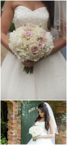 New Hall Wedding Flowers ~ Elegant Candelabra, Hydrangeas and Peonies
