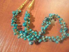 https://flic.kr/p/cAa1Fw | Siniste pärlitega kee | Hetkel müügis.Kee pikkus u 50 cm.Kee hind 15€