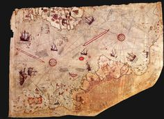 The Piri Reis map is a pre-modern world map compiled in 1513 from military intelligence by the Ottoman admiral and cartographer Piri Reis. The half of the map that survives shows the western coasts of Europe and North Africa and the coast of Brazil with reasonable accuracy. Various Atlantic islands including the Azores and Canary Islands are depicted, as is the mythical island of Antillia and possibly Japan.