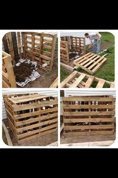 DIY compost pile box from palettes!