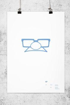 Minimalistic Pixar Movie Posters: Up | Illustrator: Wonchan Lee
