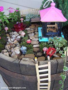 Just Folk Art: Making Our Very Own Fairy Garden Part 2