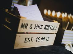 Personalised Wedding Wooden Apple Crate Gifts