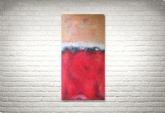 Bright Red - Original Acrylbild von FarbenfrohGalerie auf Etsy #abstract #abstrakt #modernart #rothko #farbfeldmalerei #expressionism #expressionismus #painting #gemälde #homedecor