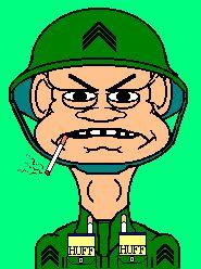 Army sergeant smoking cigarette animated gif. #sergeant 3army #smoking #cigarette #animated #gif