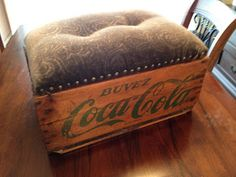 Living Outside The Line: Coke Crate Ottoman