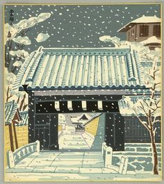 Tokuriki Tomikichiro: NishiHongan Temple - Kyoto Twelve Months - Artelino
