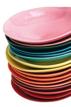 assiette porcelaine de toutes les couleurs