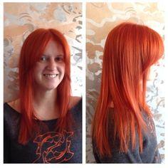 Seeing Red by Jenn Sarchet @ The Establishment LA #aveda #haircolor #red #catchingfire #silverlake #losangeles #red (at The Establishment Salon)