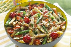 KRAFT - Pasta salad is brimming with whole wheat pasta, fresh vegetables and shredded cheese. Celebrate the summer harvest with our Veggie Salad-Pasta Toss recipe! Orzo, Pesto, Main Dishes, Side Dishes, Vegetable Pasta Salads, Cooking Recipes, Healthy Recipes, What's Cooking, Diet Recipes