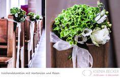 Super! kirchendekoration hochzeitsdekoration kirchenschmuck mit hortensien rosen lisianthus hypericum
